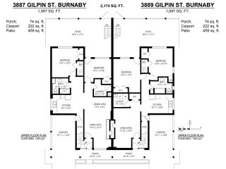 Photo 20: 3887 - 3889 GILPIN Street in Burnaby: Central Park BS House for sale (Burnaby South)  : MLS®# R2374925