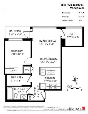 """Photo 13: 1811 928 BEATTY Street in Vancouver: Yaletown Condo for sale in """"YALETOWN"""" (Vancouver West)  : MLS®# R2210928"""
