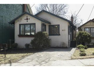 Photo 1: 902 Palmerston Avenue in WINNIPEG: West End / Wolseley Residential for sale (West Winnipeg)  : MLS®# 1508703