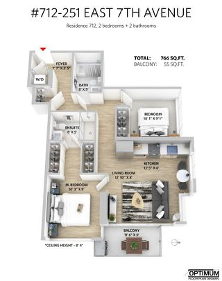 """Photo 11: 712 251 E 7TH Avenue in Vancouver: Mount Pleasant VE Condo for sale in """"THE DISTRICT ON MAIN"""" (Vancouver East)  : MLS®# R2243985"""