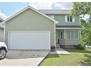 Photo 1: 43 DESJARDINS Drive in WINNIPEG: Windsor Park / Southdale / Island Lakes Residential for sale (South East Winnipeg)  : MLS®# 1414812