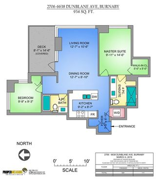 """Photo 12: 2706 6638 DUNBLANE Avenue in Burnaby: Metrotown Condo for sale in """"MODORI"""" (Burnaby South)  : MLS®# R2346023"""
