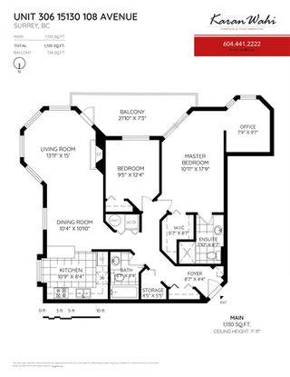 """Main Photo: 306 15130 108 Avenue in Surrey: Guildford Condo for sale in """"Riverpointe"""" (North Surrey)  : MLS®# R2329357"""