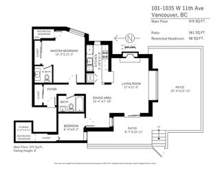 """Photo 20: 101 1035 W 11TH Avenue in Vancouver: Fairview VW Condo for sale in """"Oak Terrace"""" (Vancouver West)  : MLS®# R2169757"""