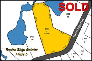Main Photo: Lot 17 Recline Ridge Road in Tappen: Land Only for sale : MLS®# 10200571