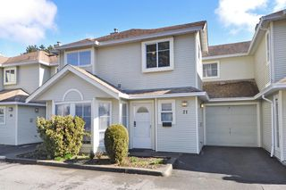 "Photo 1: 21 18951 FORD Road in Pitt Meadows: Central Meadows Townhouse for sale in ""PINE MEADOWS"" : MLS®# R2346745"
