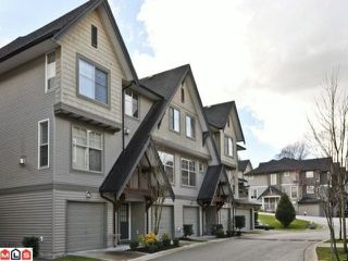 "Photo 1: 109 15152 62A Avenue in Surrey: Sullivan Station Townhouse for sale in ""UPLANDS"" : MLS®# F1105019"