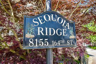 "Photo 1: 21 8155 164TH Street in Surrey: Fleetwood Tynehead Townhouse for sale in ""Sequoia Ridge"" : MLS®# R2171981"