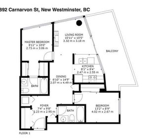 """Photo 12: 2606 892 CARNARVON Street in New Westminster: Downtown NW Condo for sale in """"AZURE 2"""" : MLS®# R2355138"""