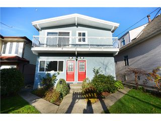 Photo 1: # 1553 1551 E 11TH AV in Vancouver: Grandview VE House for sale (Vancouver East)  : MLS®# V1037323