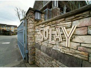 "Photo 1: 150 15168 36TH Avenue in Surrey: Morgan Creek Townhouse for sale in ""SOLAY"" (South Surrey White Rock)  : MLS®# F1423214"