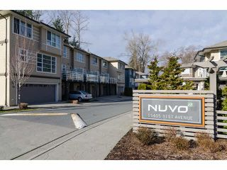 """Photo 1: 1 15405 31ST Avenue in Surrey: Grandview Surrey Townhouse for sale in """"NUVO 2"""" (South Surrey White Rock)  : MLS®# F1430709"""