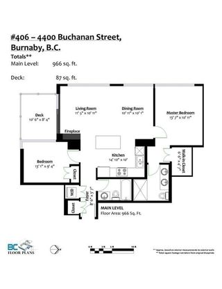 "Photo 11: 406 4400 BUCHANAN Street in Burnaby: Brentwood Park Condo for sale in ""MOTIF"" (Burnaby North)  : MLS®# R2219901"