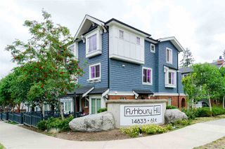 """Photo 1: 129 14833 61 Avenue in Surrey: Sullivan Station Townhouse for sale in """"ASHBURY HILL"""" : MLS®# R2387029"""