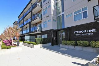 "Photo 1: 418 12070 227 Street in Maple Ridge: East Central Condo for sale in ""STATION ONE"" : MLS®# R2364087"
