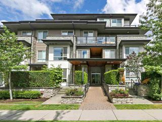 "Photo 1: 106 7488 BYRNEPARK Walk in Burnaby: South Slope Condo for sale in ""GREEN BY ADERA"" (Burnaby South)  : MLS®# R2385440"