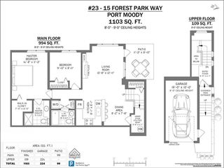 """Photo 20: 23 15 FOREST PARK Way in Port Moody: Heritage Woods PM Townhouse for sale in """"DISCOVERY RIDGE"""" : MLS®# R2411908"""