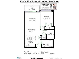"Photo 13: 519 4818 ELDORADO Mews in Vancouver: Collingwood VE Condo for sale in ""2300 KINGSWAY"" (Vancouver East)  : MLS®# V1098508"
