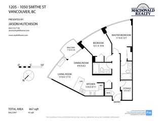 Photo 17: # 1205 1050 SMITHE ST in Vancouver: West End VW Condo for sale (Vancouver West)  : MLS®# V1019415
