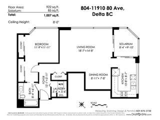 """Photo 20: 804 11910 80 Avenue in Delta: Scottsdale Condo for sale in """"Chancellor Place"""" (N. Delta)  : MLS®# R2374548"""
