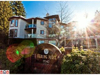 "Photo 1: 102 15342 20TH Avenue in Surrey: King George Corridor Condo for sale in ""STERLING PLACE"" (South Surrey White Rock)  : MLS®# F1200970"