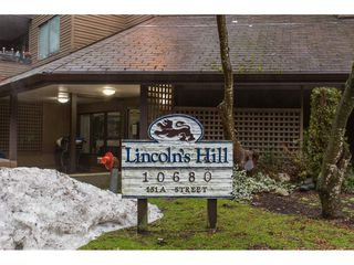 "Photo 1: 210 10680 151A Street in Surrey: Guildford Condo for sale in ""Lincoln Hill"" (North Surrey)  : MLS®# R2138821"