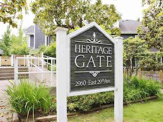 """Photo 1: 120 2960 E 29TH Avenue in Vancouver: Collingwood VE Condo for sale in """"Heritage Park"""" (Vancouver East)  : MLS®# R2430286"""