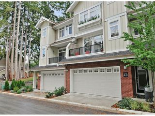 """Photo 1: 40 2925 KING GEORGE Boulevard in Surrey: King George Corridor Townhouse for sale in """"Keystone"""" (South Surrey White Rock)  : MLS®# F1322454"""