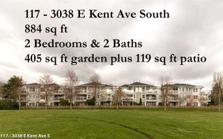 "Photo 1: 117 3038 E KENT AVENUE SOUTH Avenue in Vancouver: Fraserview VE Condo for sale in ""SOUTHAMPTON"" (Vancouver East)  : MLS®# R2154472"