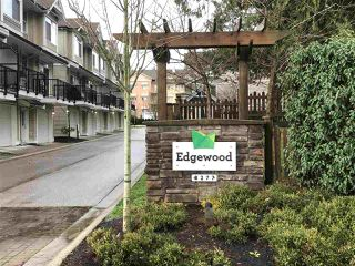 "Main Photo: 41 8277 161 Street in Surrey: Fleetwood Tynehead Townhouse for sale in ""Edgewood"" : MLS®# R2328439"