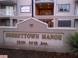 "Photo 1: 302 12101 80TH Avenue in Surrey: Queen Mary Park Surrey Condo for sale in ""Surrey Town Manor"" : MLS®# F1200013"