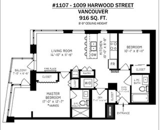 """Photo 20: 1107 1009 HARWOOD Street in Vancouver: West End VW Condo for sale in """"MODERN"""" (Vancouver West)  : MLS®# R2292146"""