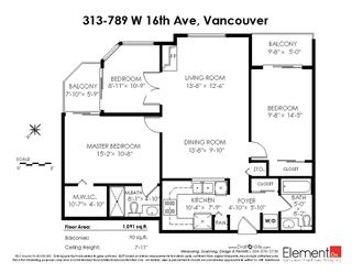 "Photo 20: 313 789 W 16TH Avenue in Vancouver: Fairview VW Condo for sale in ""SIXTEEN WILLOWS"" (Vancouver West)  : MLS®# R2354520"