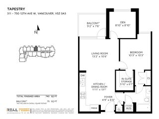 "Photo 16: 311 750 W 12TH Avenue in Vancouver: Fairview VW Condo for sale in ""TAPESTRY"" (Vancouver West)  : MLS®# R2201307"