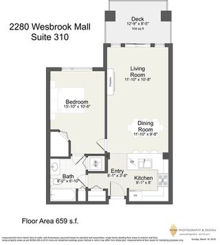 Photo 14: 310 2280 WESBROOK Mall in Vancouver: University VW Condo for sale (Vancouver West)  : MLS®# R2248108