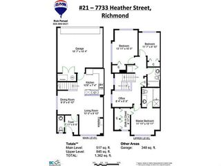 Photo 20: 21 7733 HEATHER Street in Richmond: McLennan North Townhouse for sale : MLS®# V1120040