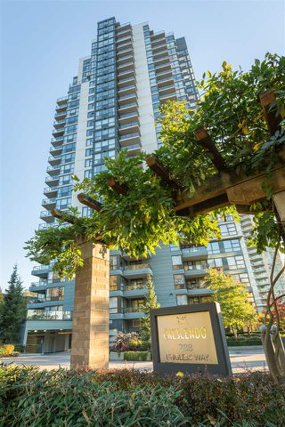 "Photo 1: 901 288 UNGLESS Way in Port Moody: North Shore Pt Moody Condo for sale in ""CRESCENDO"" : MLS®# R2271869"