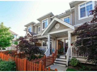 """Photo 1: 28 6852 193RD Street in Surrey: Clayton Townhouse for sale in """"INDIGO"""" (Cloverdale)  : MLS®# F1426154"""