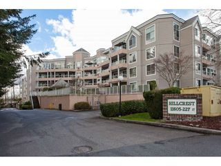"Photo 1: 215 11605 227 Street in Maple Ridge: East Central Condo for sale in ""Hillcrest"" : MLS®# R2372554"