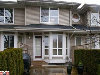 Photo 1: 5 8778 159TH Street in Surrey: Fleetwood Tynehead Townhouse for sale : MLS®# F1201106