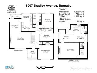 Photo 10: 8007 BRADLEY AV in Burnaby: South Slope House for sale (Burnaby South)  : MLS®# V1007040