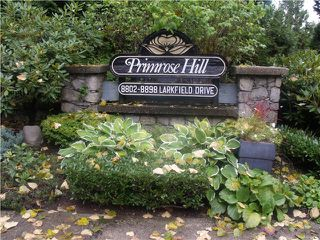 "Photo 1: 8826 LARKFIELD Drive in Burnaby: Forest Hills BN Townhouse for sale in ""PRIMROSE HILL"" (Burnaby North)  : MLS®# V1028812"