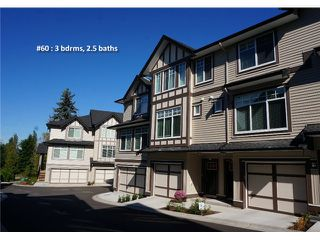"""Photo 1: 60 7090 180TH Street in Surrey: Cloverdale BC Townhouse for sale in """"THE BOARDWALK"""" (Cloverdale)  : MLS®# F1323453"""