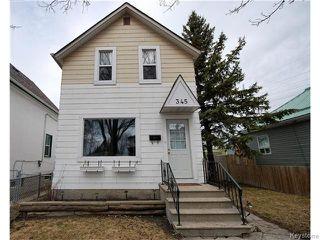 Photo 1: 345 Dumoulin Street in Winnipeg: St Boniface Residential for sale (South East Winnipeg)  : MLS®# 1608261