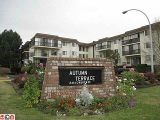 "Photo 1: 310 2414 CHURCH Street in Abbotsford: Abbotsford West Condo for sale in ""AUTUMN TERRACE"" : MLS®# R2159048"