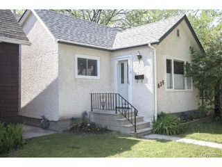 Photo 1: 636 Minto Street in WINNIPEG: West End / Wolseley Residential for sale (West Winnipeg)  : MLS®# 1513809