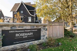 "Photo 1: 14 3303 ROSEMARY HEIGHTS Crescent in Surrey: Morgan Creek Townhouse for sale in ""ROSEMARY GATE"" (South Surrey White Rock)  : MLS®# R2220294"
