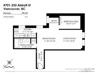 """Photo 20: 701 233 ABBOTT Street in Vancouver: Downtown VW Condo for sale in """"ABBOTT PLACE"""" (Vancouver West)  : MLS®# R2237351"""