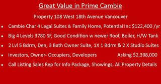 Photo 3: 108 W 18TH Avenue in Vancouver: Cambie House for sale (Vancouver West)  : MLS®# R2338721