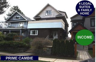 Photo 1: 108 W 18TH Avenue in Vancouver: Cambie House for sale (Vancouver West)  : MLS®# R2338721